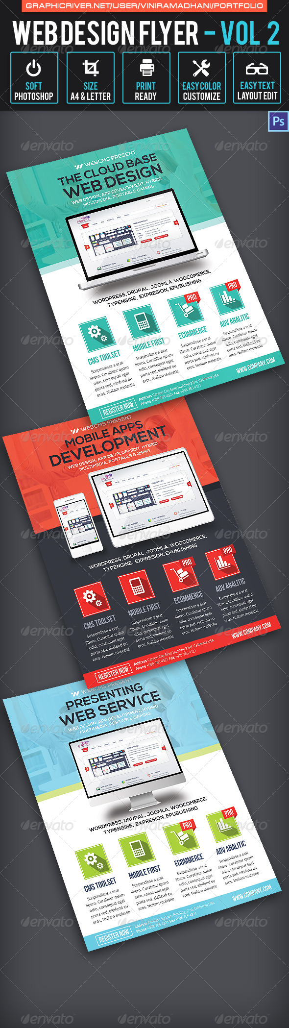 Web Design Flyer | Volume 2 - Corporate Flyers