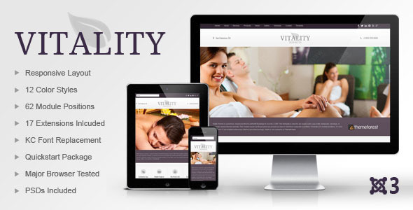 Vitality Joomla Health & Beauty Salon Theme - Health & Beauty Retail