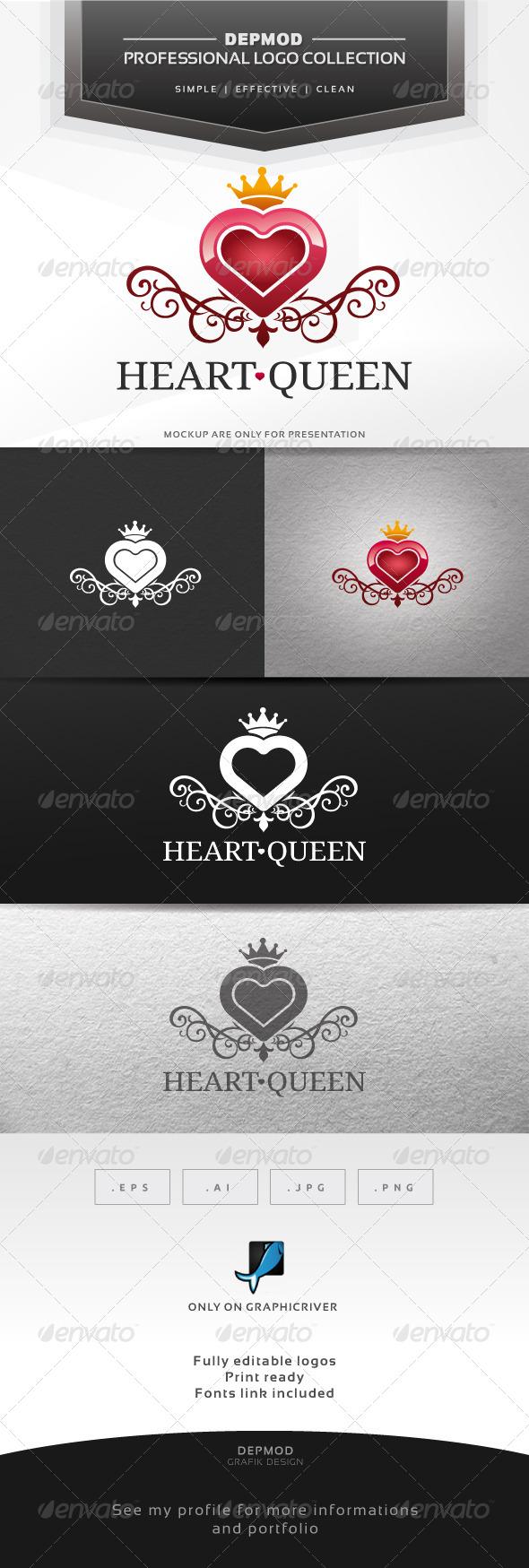 Heart Queen Logo - Symbols Logo Templates
