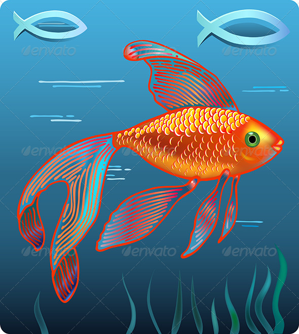 Golden Jesus Fish - Animals Characters