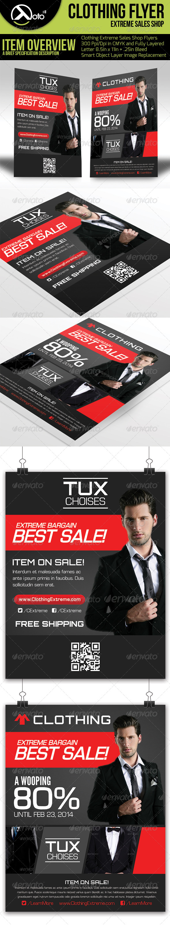 Clothing Extreme Sale Flyers - Corporate Flyers