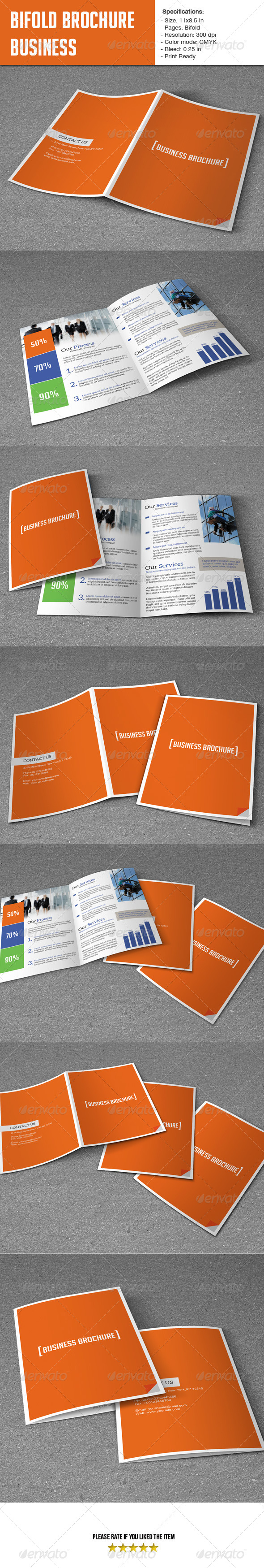 Bifold Template- Business - Corporate Brochures