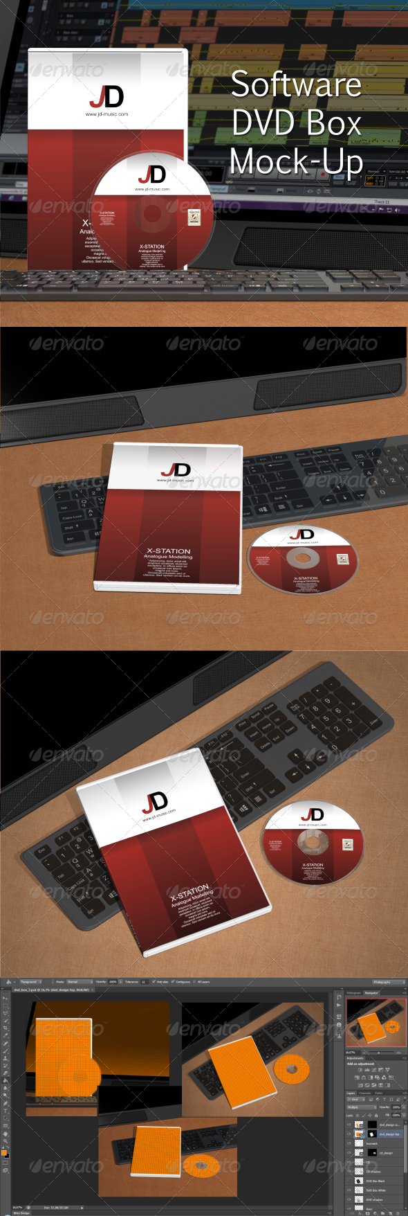 Software DVD Box Mock-Up - Discs Packaging