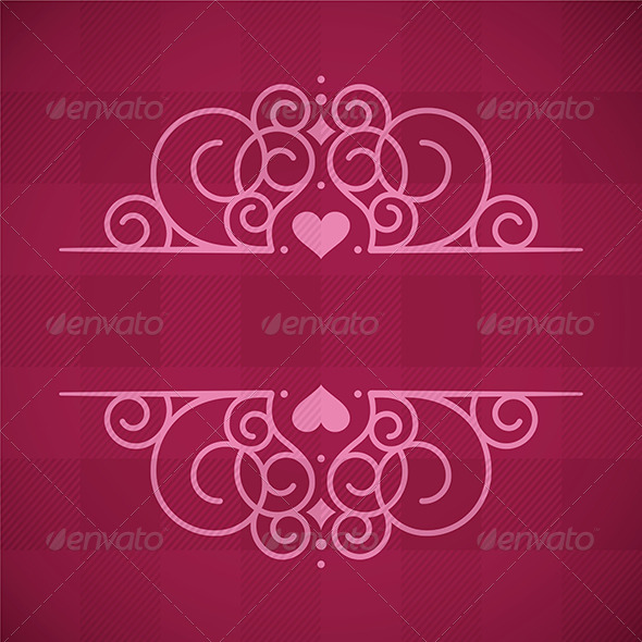 Love Decorative Frame Pattern - Valentines Seasons/Holidays