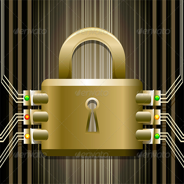 The Electronic Lock - Objects Vectors