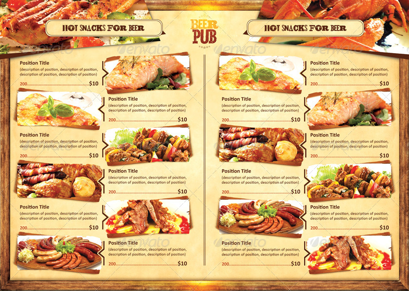template menu design and poster beer pub by sluap graphicriver