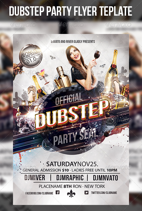 Dubstep Party Flyer Template - Events Flyers