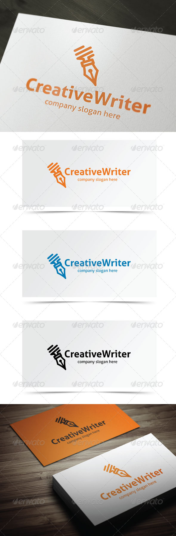 Creative Writer - Objects Logo Templates