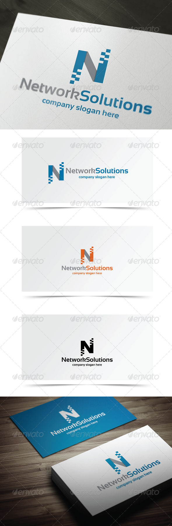 Network Solutions - Letters Logo Templates