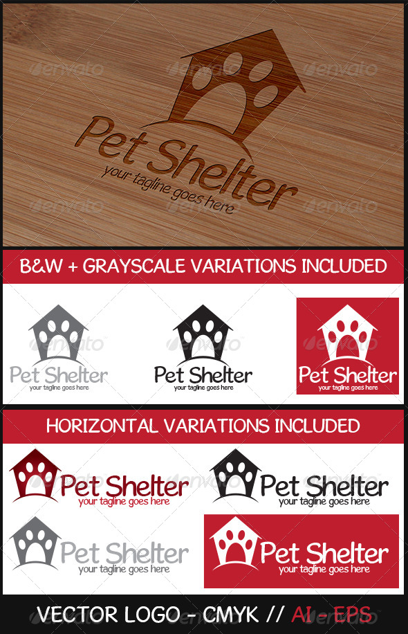 Pet Shelter Logo - Animals Logo Templates