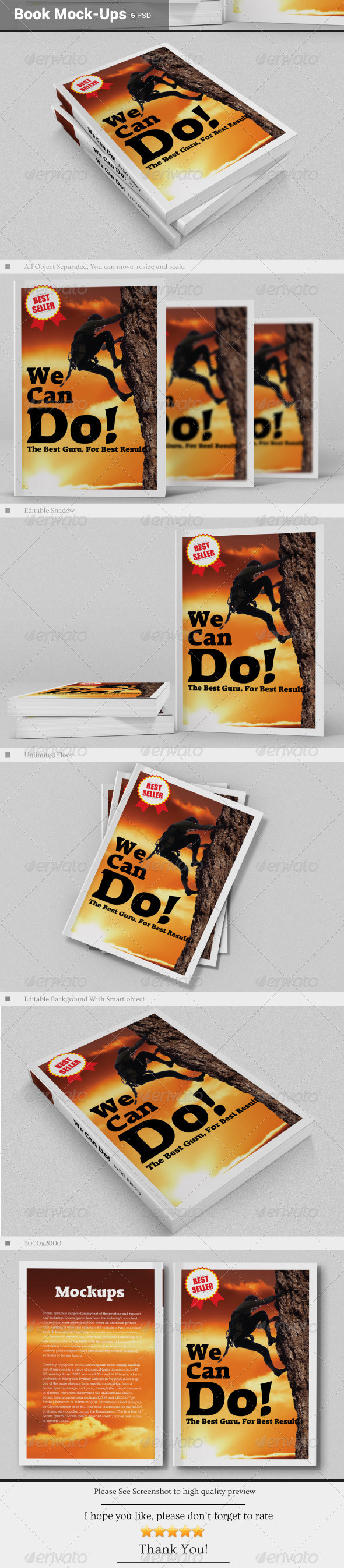 Book Mock-Ups - Books Print