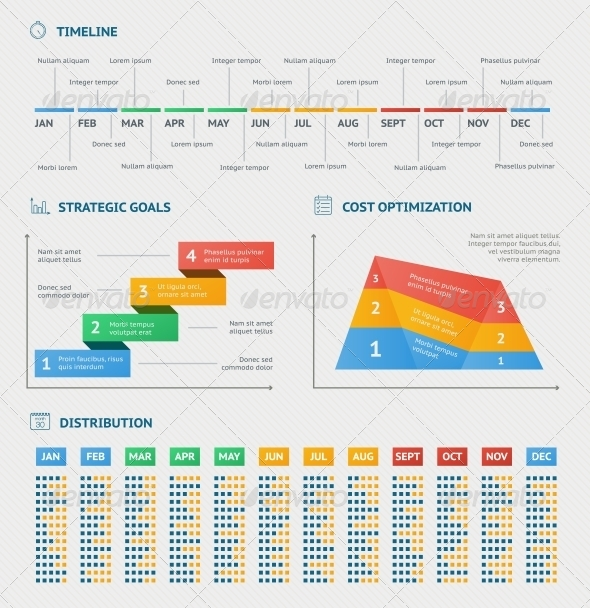 Business infographics charts - Infographics