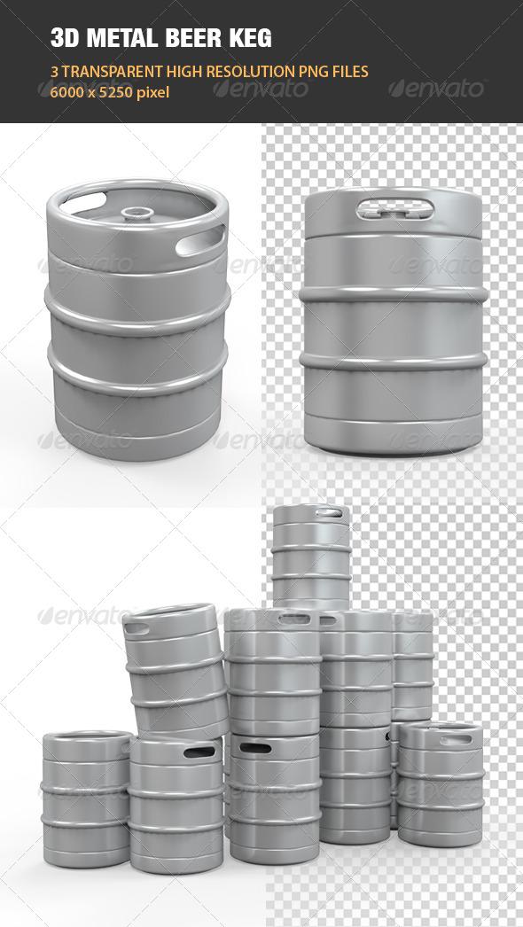 Metal Beer Keg - Objects 3D Renders