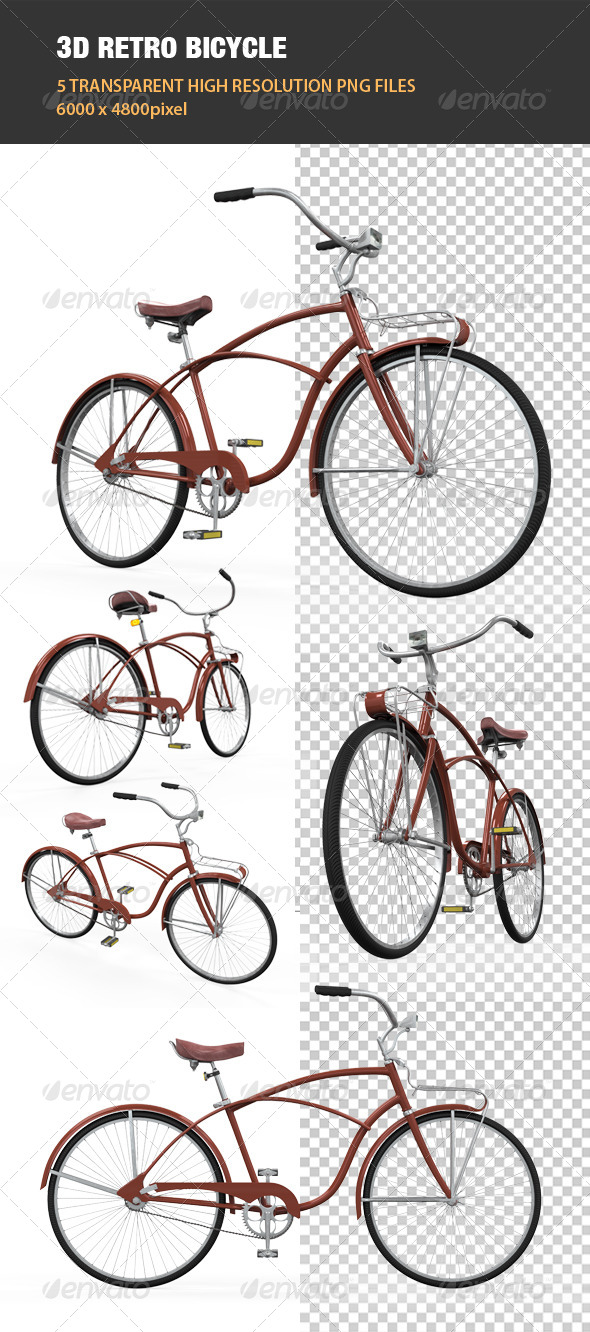 3D Retro Bicycle - Objects 3D Renders