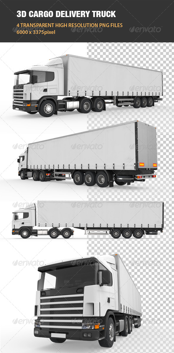 3D Cargo Delivery Truck - Objects 3D Renders