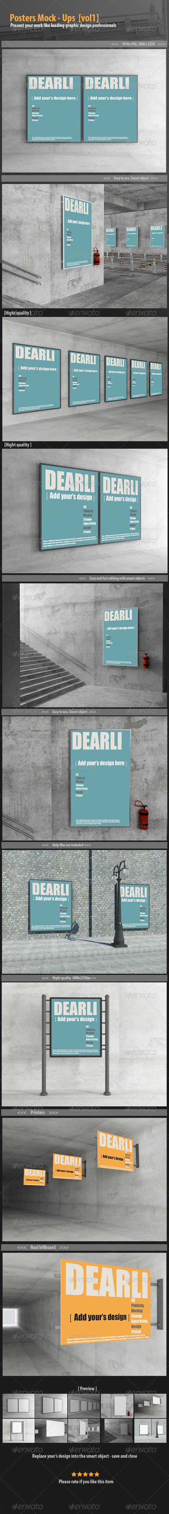 Poster Mock-Up [vol1] - Posters Print
