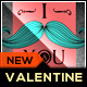 I Mustache You Valentine Greeting Card Template - GraphicRiver Item for Sale