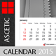 Calendar Template Ascetic 2015 (2014) - GraphicRiver Item for Sale