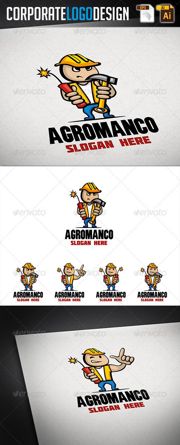 Corporate Logo Design - AgroManCo Logo - Humans Logo Templates