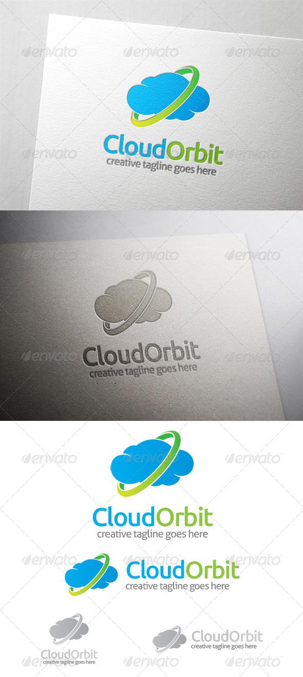 Cloud Orbit Logo - Nature Logo Templates