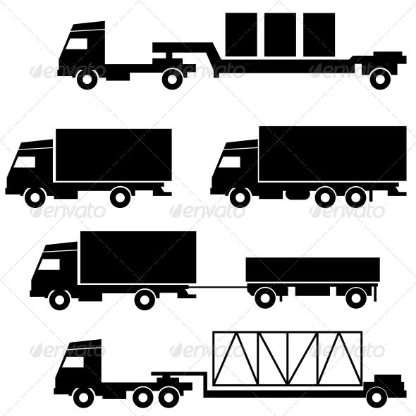 Transportation Symbols Set - Travel Conceptual