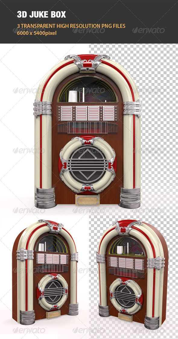 3D Juke Box Radio - Objects 3D Renders