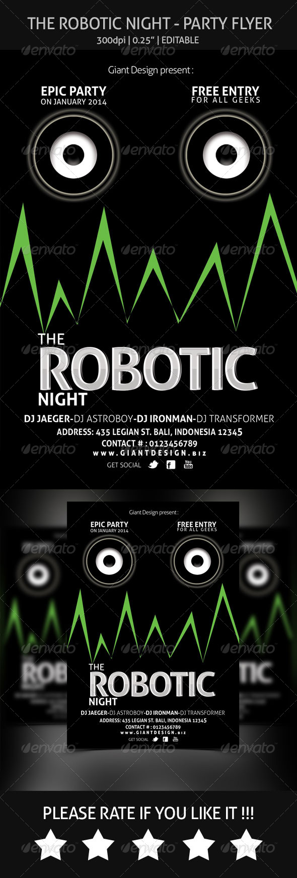 The Robotic Night - Flyer Party - Clubs & Parties Events