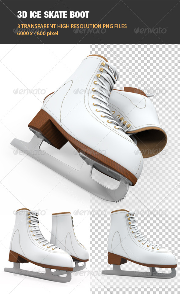 3D Ice Skate Boot - Objects 3D Renders