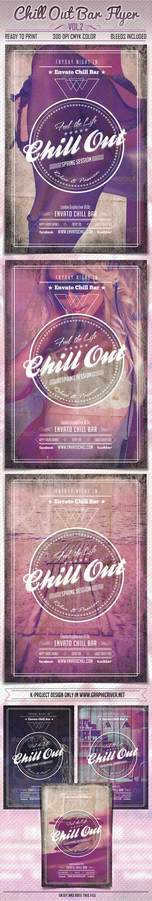 Chill Out Bar Flyer Vol2 - Clubs & Parties Events
