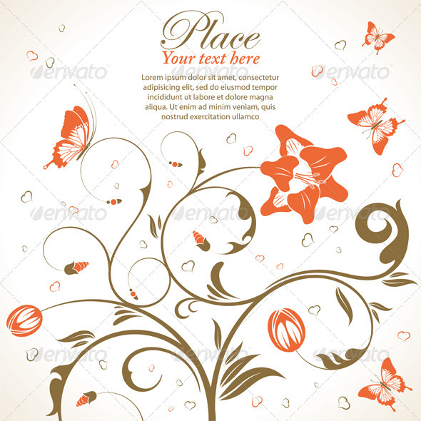 Flowers theme - Flourishes / Swirls Decorative