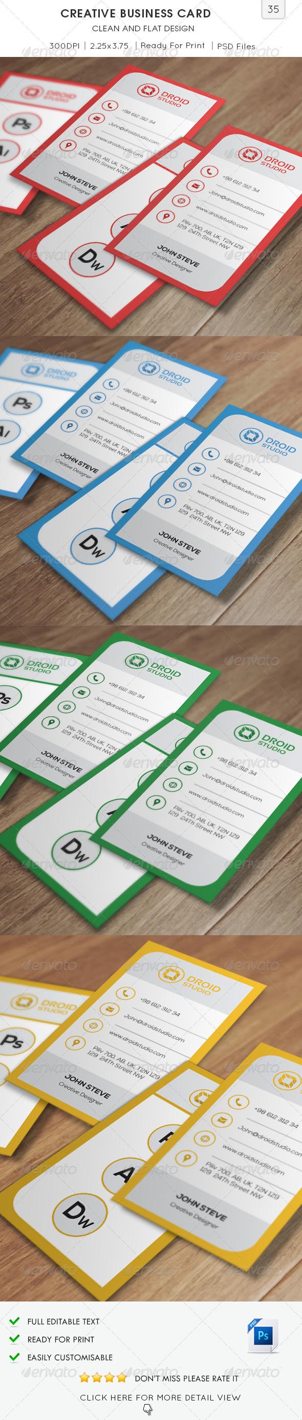 Creative Flat Business Card v35 - Creative Business Cards