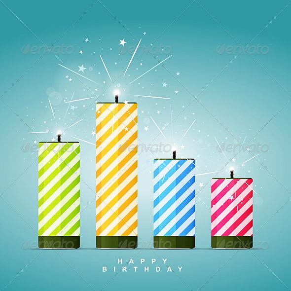 Birthday Firecrackers - Decorative Symbols Decorative