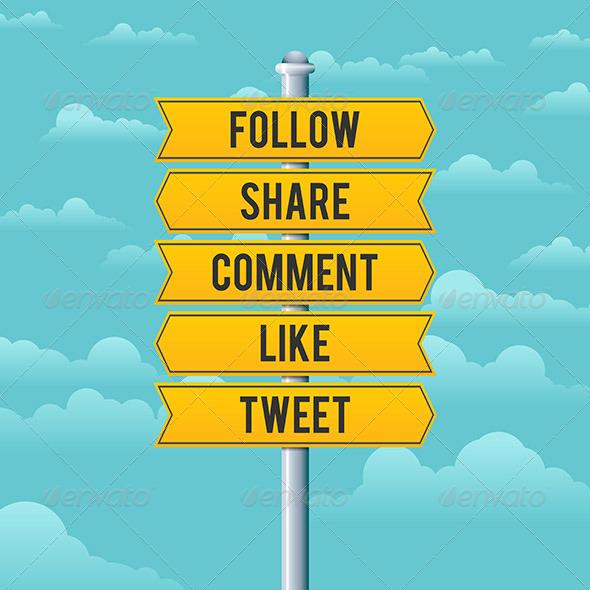 Social Media Road Signs - Media Technology
