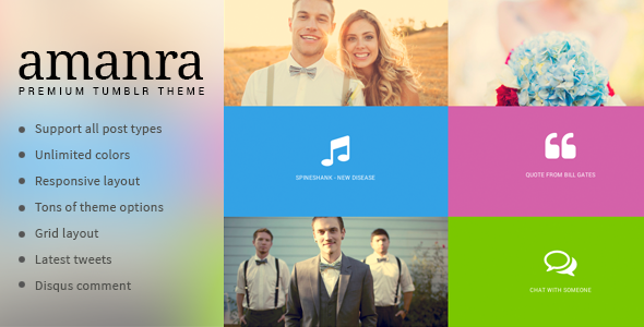 Amanra – Responsive Grid Photography Tumblr Theme