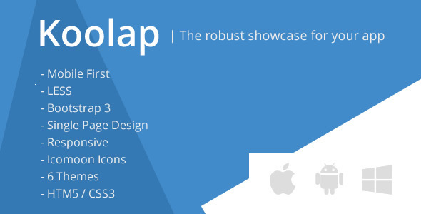 Koolap - The All-in-One App Landing Page - Marketing Corporate