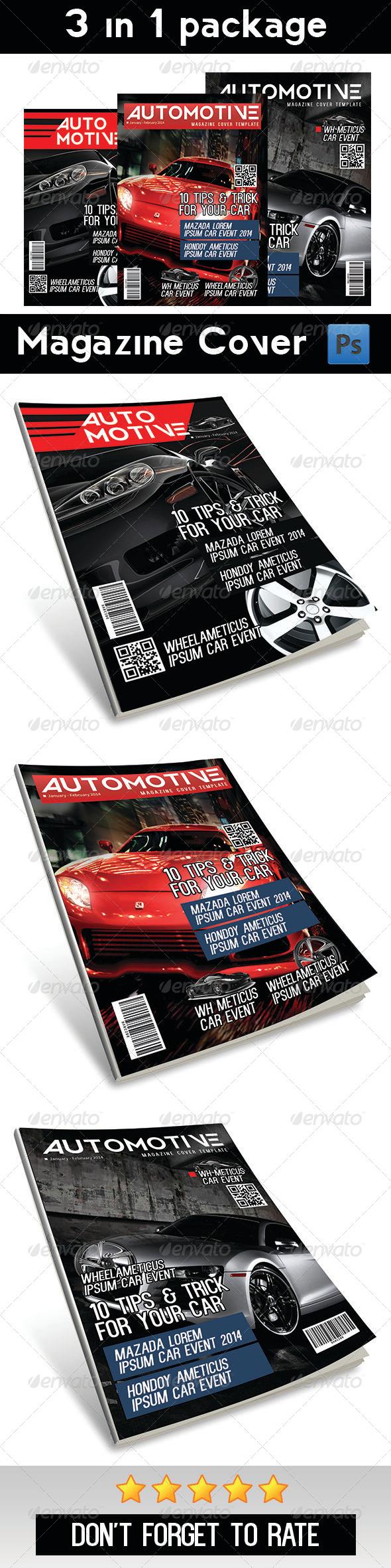 Automotive Magazine Cover | Vol 1 - Magazines Print Templates
