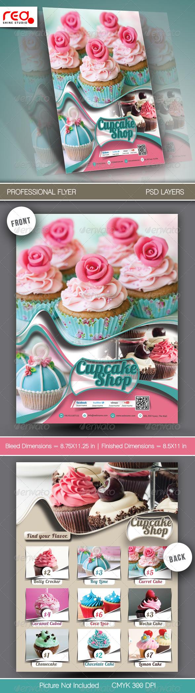 Cupcake Menu Template - Food Menus Print Templates