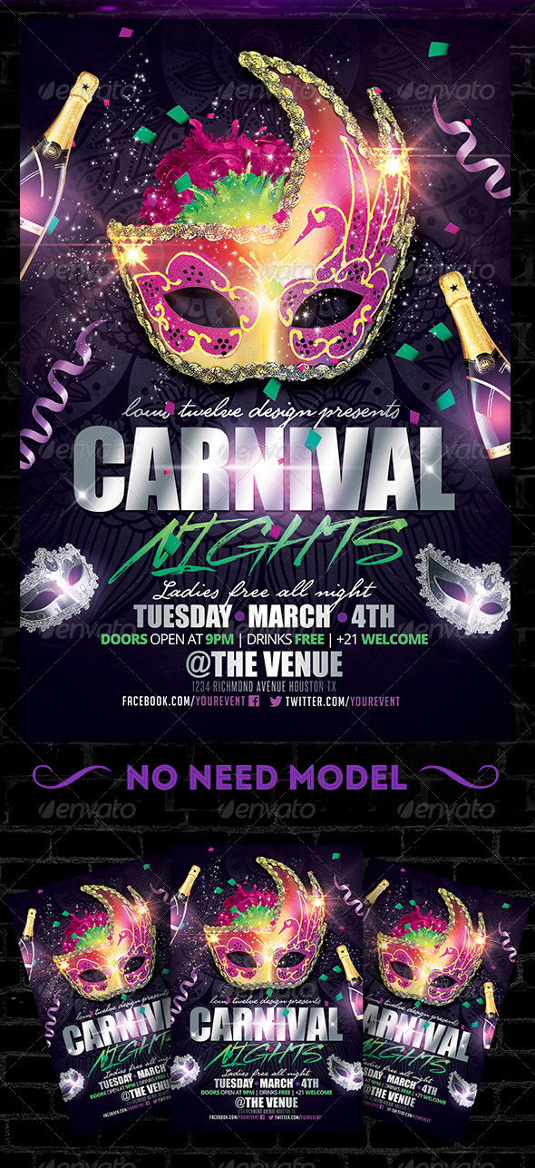 Carnival Nights Flyer Template by LouisTwelve-Design ...