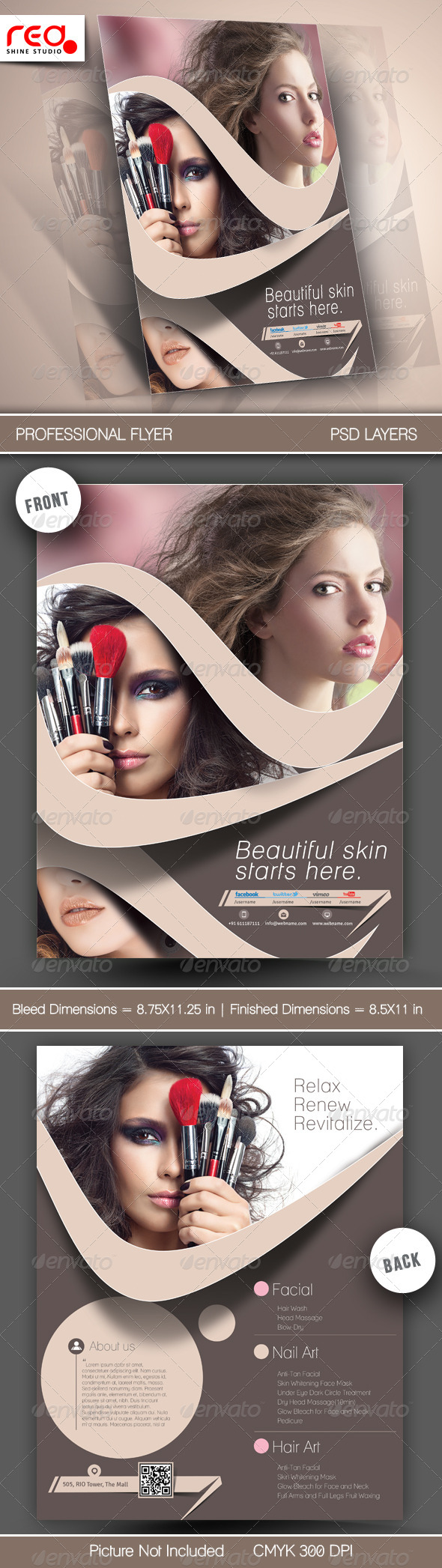 Beauty Salon Flyer Template - Commerce Flyers