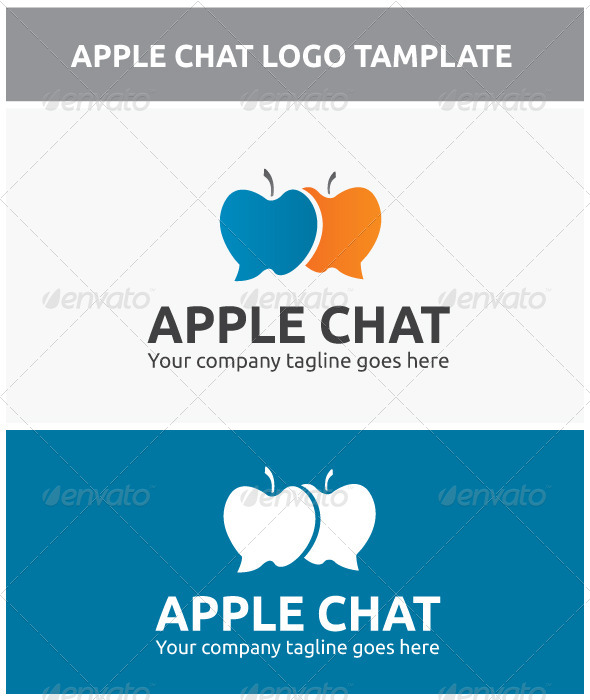Apple Chat - Food Logo Templates