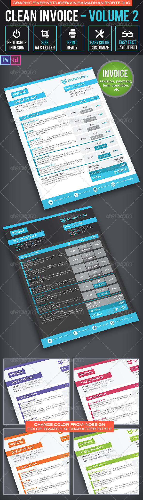 Invoice Template | Volume 2 - Proposals & Invoices Stationery