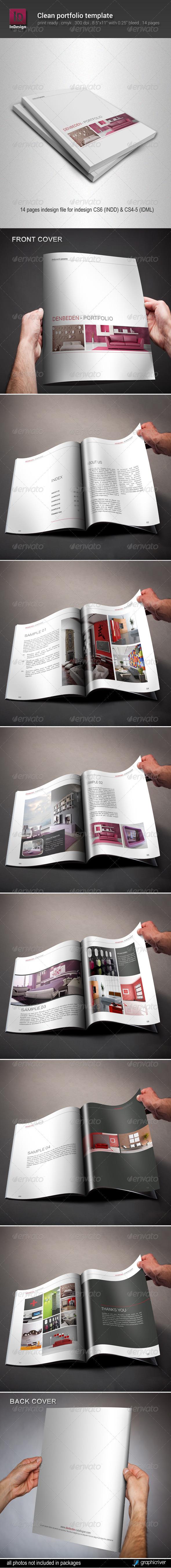 Clean Portfolio Template - Portfolio Brochures