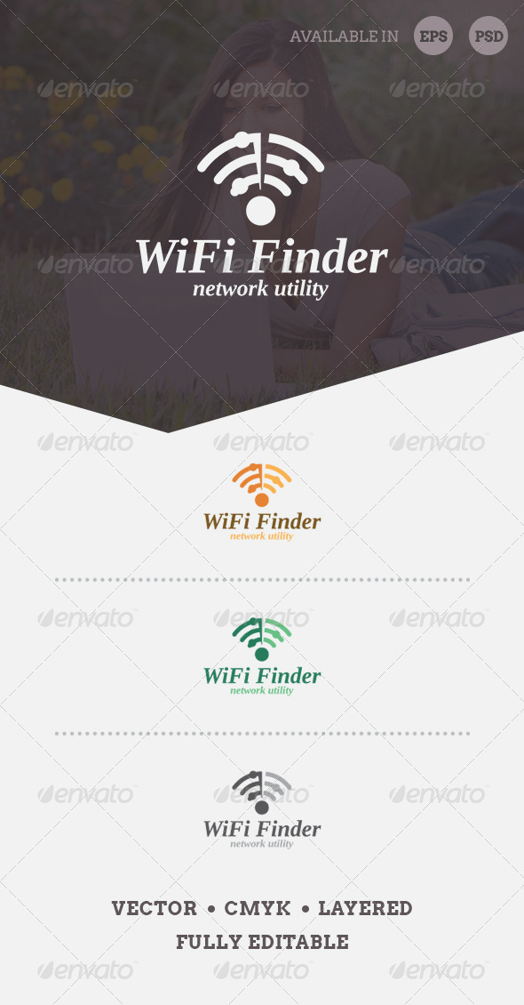 WiFi Finder Logo Template - Symbols Logo Templates