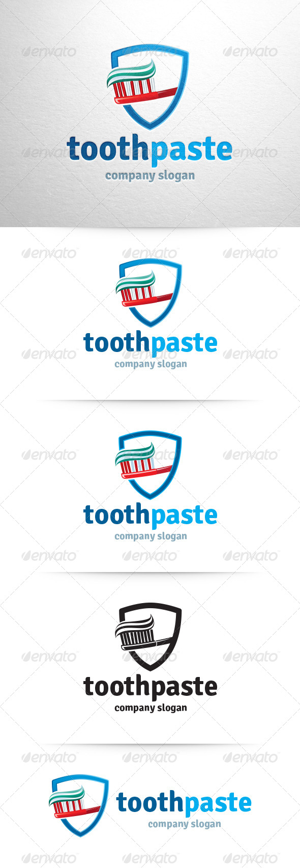 Toothpaste Logo Template - Objects Logo Templates