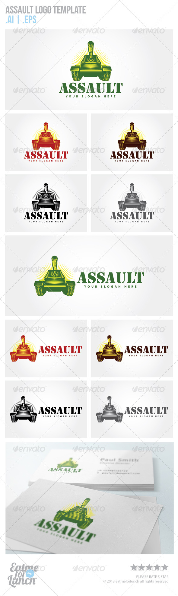 Army Tank Logo Templates - Objects Logo Templates