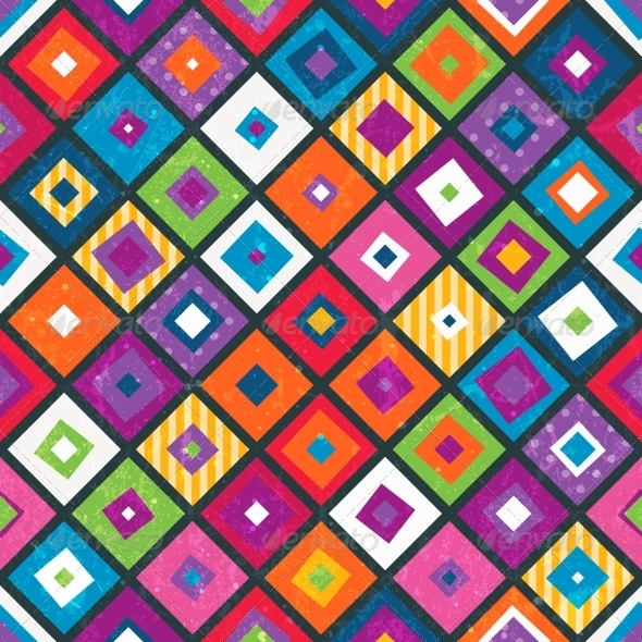 Abstract Seamless Background with Squares - Patterns Decorative