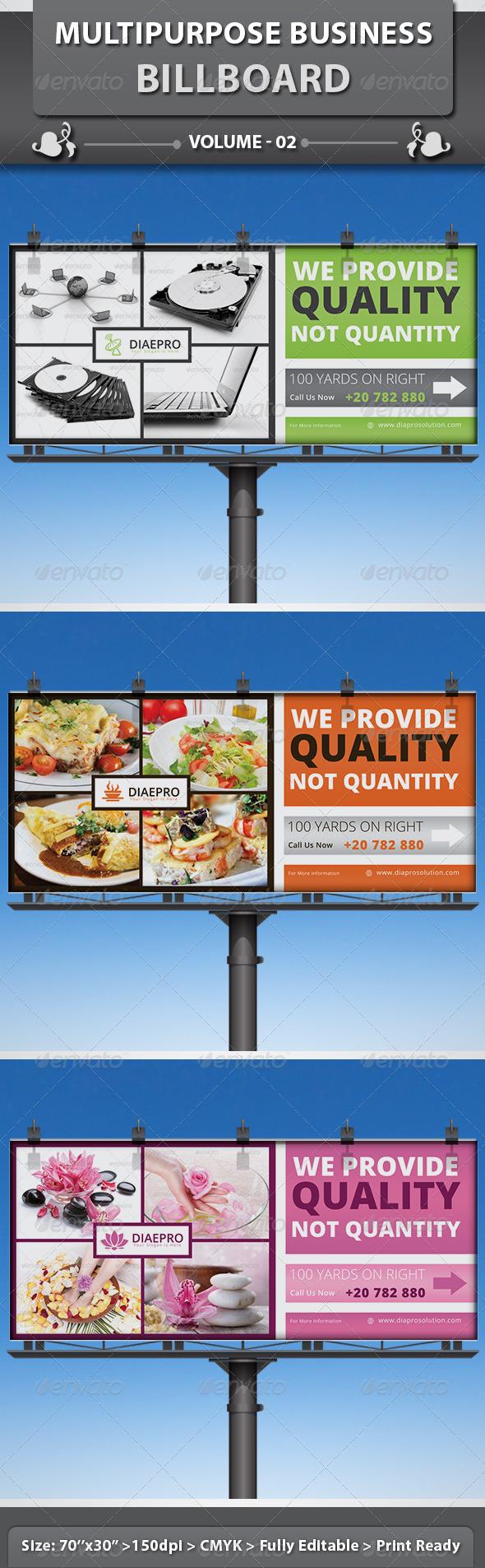 Multipurpose Business Billboard | Volume 2 - Signage Print Templates