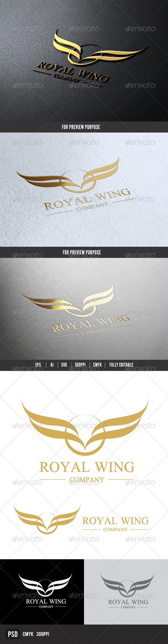 Royal Wing - Crests Logo Templates