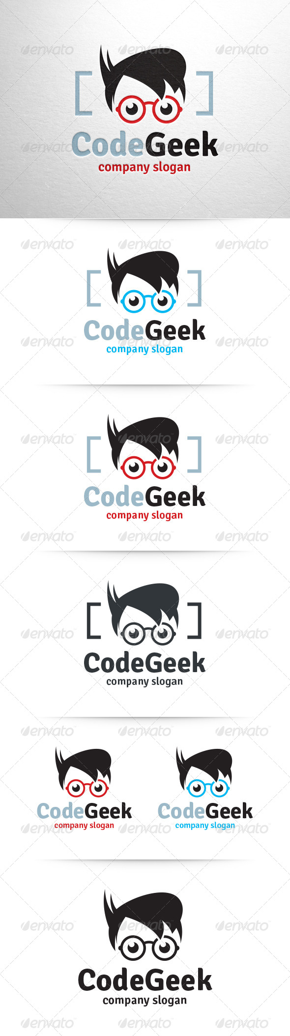 Code Geek Logo Template - Humans Logo Templates