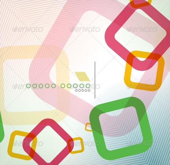 Colorful Square Geometric Shape Flat Design - Backgrounds Business